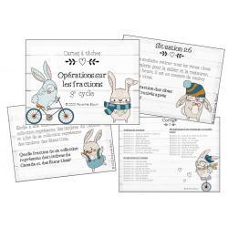 Cartes à tâches : Opérations sur les fractions