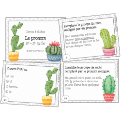 Cartes à tâches : Le pronom