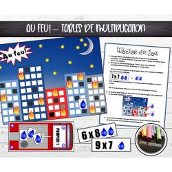 Au feu! : Jeu des tables de multiplication