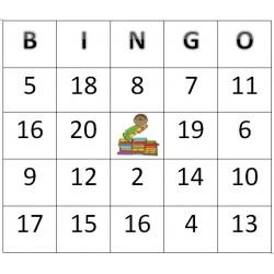 Bingo des chiffres 1 à 20