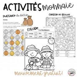 Activités - la monnaie canadienne