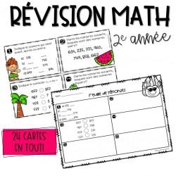 Cartes à tâches - Révision math - 2e