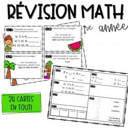 Cartes à tâches - Révision math - 1re