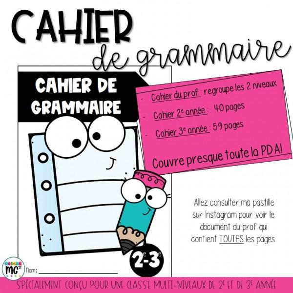 Cahier de grammaire 2e- 3e