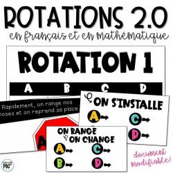 Rotations en français et en mathématique 2.0