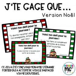 "Jeu ""J'te gage que..."" (version Noël)"