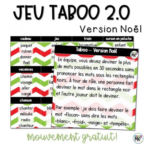 Jeu TABOO version Noël