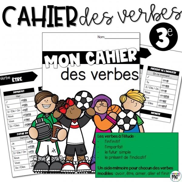 Cahier des verbes - 3e année