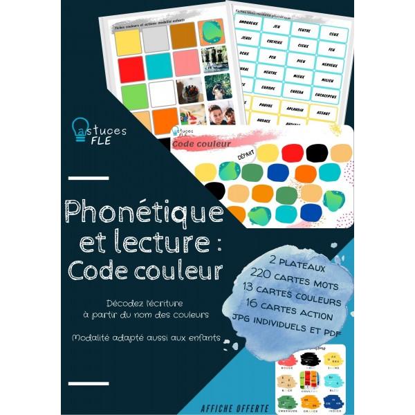 FLE - Code couleur: phonétique et vocabulaire
