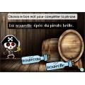 Activité interactive pirates -Mots à l'étude de 2e