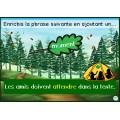 Activité interactive forêt - Mots à l'étude de 2e