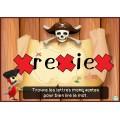 Activité interactive thème pirates-Mots à l'étude