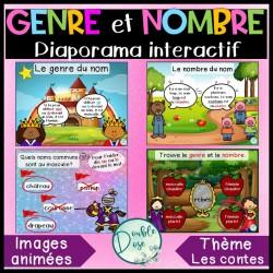 Diaporama/Jeu interactif-Genre et nombre des noms