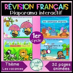 Diaporama interactif - Révision français 1er cycle