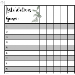 Simple Liste d'élève