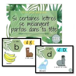 Les lettres b,d,p,q