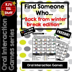 Oral Interaction Game: Find Someone (Winter Break)