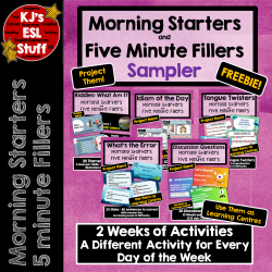 Freebie: Morning Starter and Five Minute Filler
