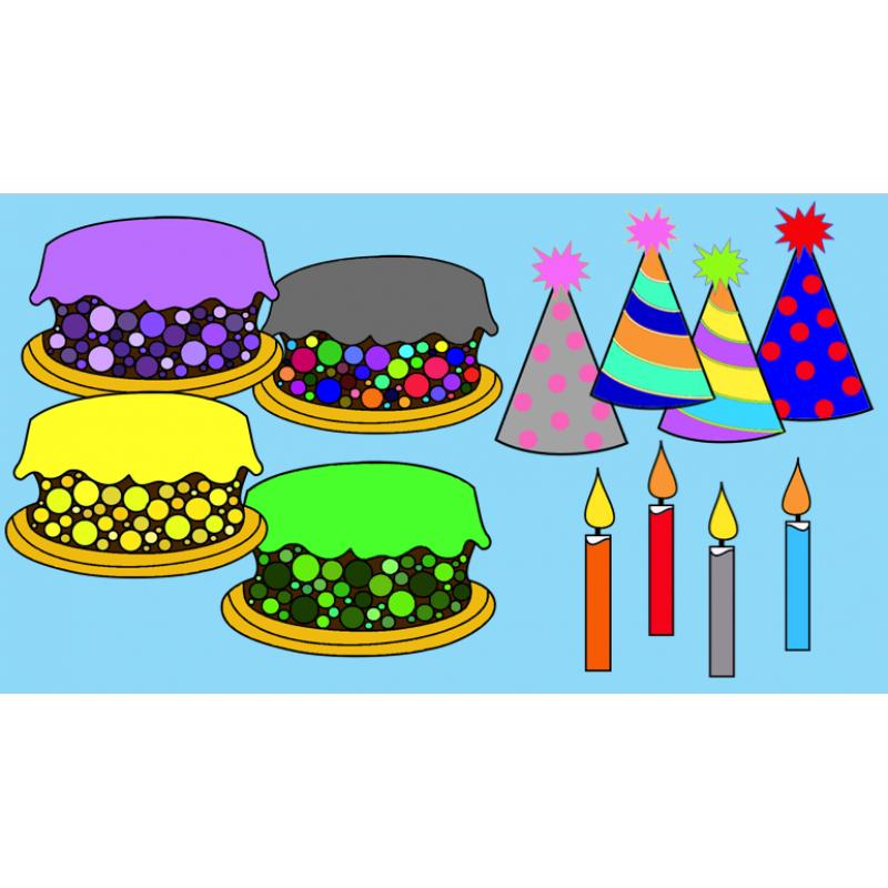 Clipart Anniversaire ensemble clipart anniversaire et fête