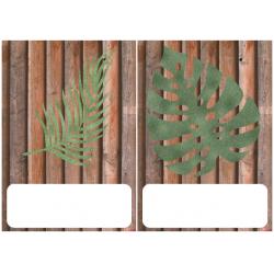 étiquettes bureaux et casiers: feuillage, bois