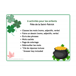 Activités pédagogiques - Fête de la St. Patrick