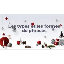 Les types et formes de phrases