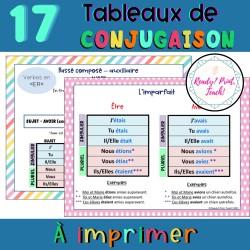 Tableaux de conjugaison verbes 1er 2e 3e groupes