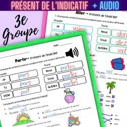 Verbes irréguliers 3e groupe PRÉSENT Conjugaison