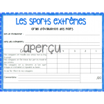 Projet Recherche - écriture - Sports extrêmes