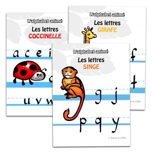 L'alphabet animé : Affiches