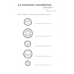Exercices la monnaie canadienne