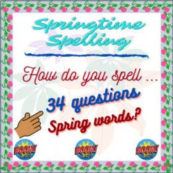 Boom cards:Spring Time :34 Questions on 17 Words