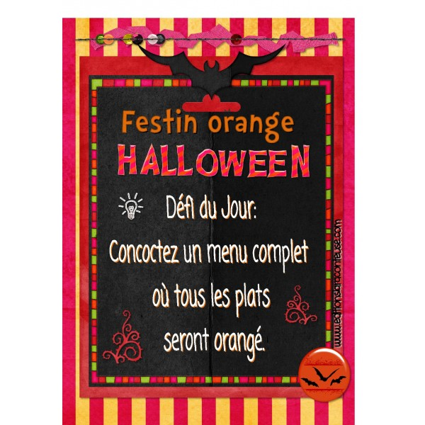 Écriture Halloween: composer menu orangé!