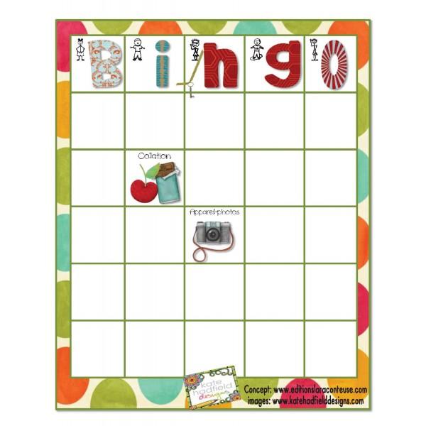 Bingo des objets dans un pupitre