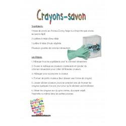 Recette crayon-savon et crayon cire