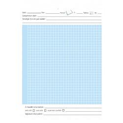 Cahier quadrillé maths À imprimer!