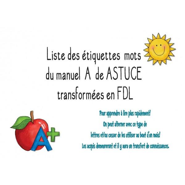 144 mots-étiquettes FDL Manuel Astuce