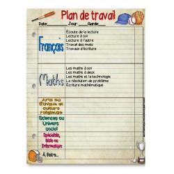Plan de travail 5 au quotidien