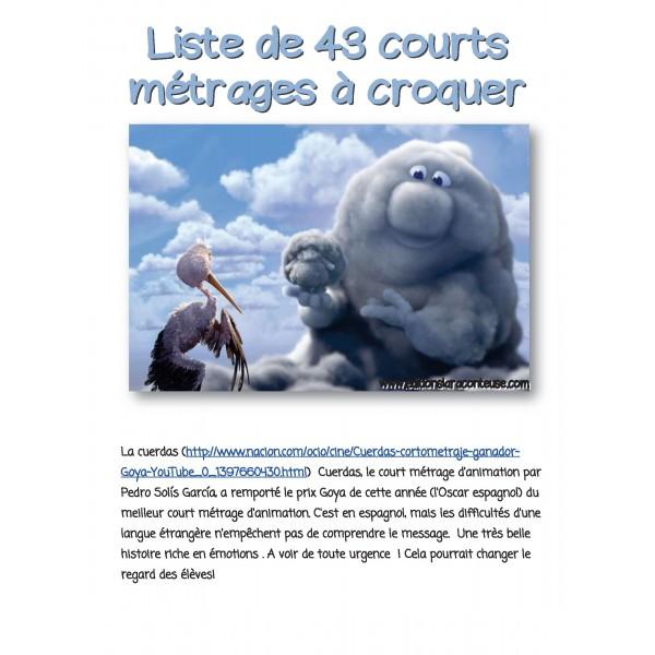 41 COURTS MÉTRAGES à croquer