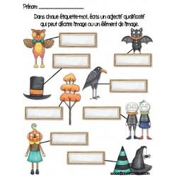 Adjectifs Halloween