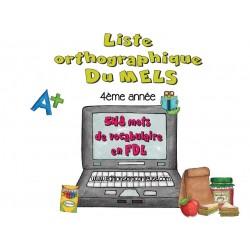 Liste orthographique en  FDL 4ème année