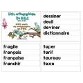 Liste orthographique en  FDL 6ème année