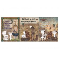3 affiches superbes: Salle de bain propre !