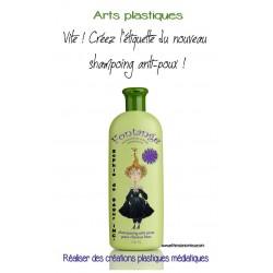 ARTS:créer une ÉTIQUETTE de Shampoing