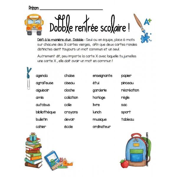 Crée ton Dobble thème école !