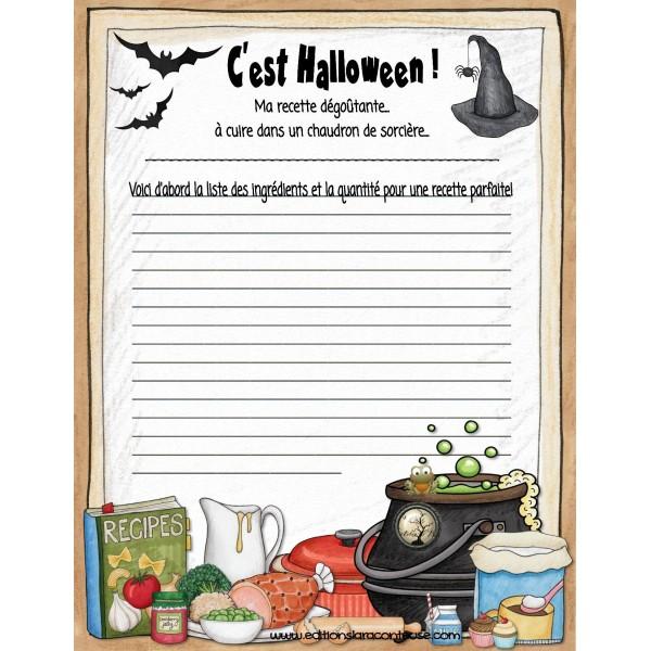 Test Ecrire Halloween recette dégoûtante