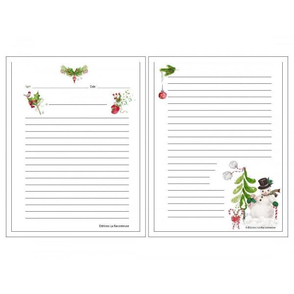 Feuilles lignées Écrire sur Noël !