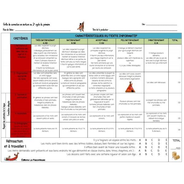 Grille correction Texte Informatif