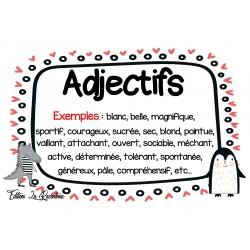 Affiches Classe de mots