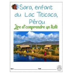Lecture : Pérou , Sara du Lac Titicaca